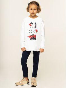 Liu Jo Kids Komplet bluzka i legginsy Felpa K69071 F0090 Kolorowy Slim Fit