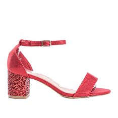 Czerwone sandały na słupku You Know