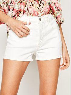 Levi's® Szorty jeansowe 501® High-Waisted Shorts 56327-0025 Biały Slim Fit