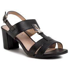 Sandały CAPRICE - 9-28300-24 Black Nappa 022