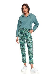 Spodnie z wiązaniem i nadrukiem