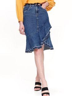 Jeansowa spódnica z falbaną