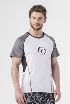 T-Shirt biały / melanż