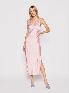 Pepe Jeans Sukienka letnia Lila PL952840 Różowy Regular Fit