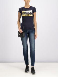 Armani Exchange Jeansy 8NYJ01 Y3AZZ 1500 Granatowy Super Skinny Fit