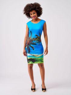 Sukienka ze wzorem palm Smashed Lemon 20222