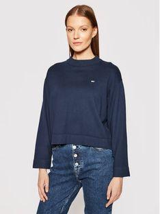 Tommy Jeans Sweter Essential DW0DW09802 Granatowy Regular Fit