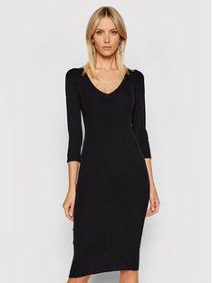 Guess Sukienka dzianinowa W1YK97 Z2DC0 Czarny Slim Fit