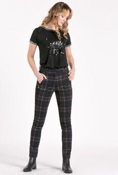 Wzorzyste spodnie damskie