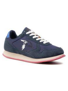 Trussardi Jeans Sneakersy 77A00282 Granatowy