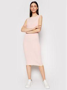 Ice Play Sukienka dzianinowa 21E U2M0 AH01 9512 4337 Różowy Slim Fit