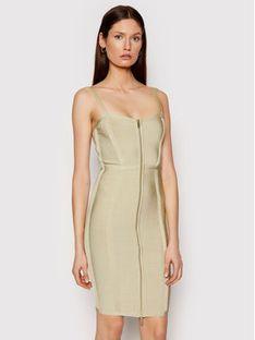 Marciano Guess Sukienka koktajlowa 1GG756 5608Z Zielony Slim Fit