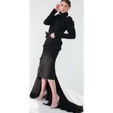Sukienka Gosia Baczyńska na bal wieczorowa z długim rękawem maxi