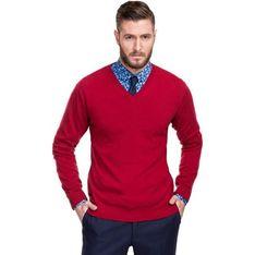 Sweter męski Giacomo Conti czerwony