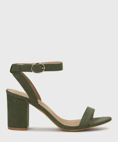 Khaki sandały damskie