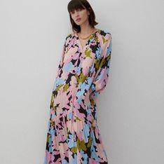 Reserved - Długa sukienka z wiskozy - Niebieski