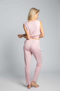 Spodnie od Piżamy z Wiskozy - Różowe