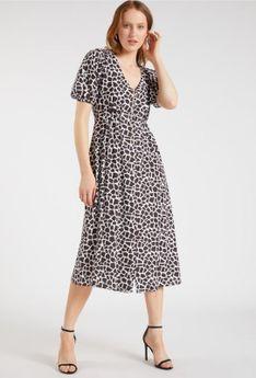 Casualowa sukienka z wzorem