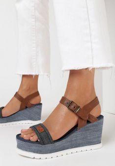 Granatowe Sandały Anthionis
