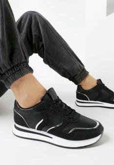 Czarne Buty Sportowe Galigina