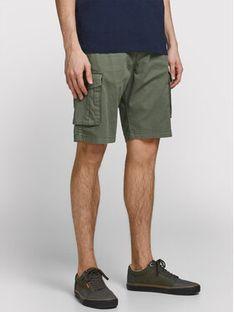 Jack&Jones Szorty materiałowe Zack 12184905 Zielony Regular Fit