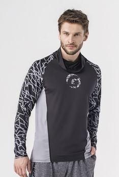 Bluza z kominem czarny / contour