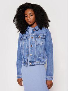 Guess Kurtka jeansowa W1RN25 D4AM1 Niebieski Regular Fit