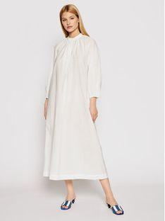 Max Mara Beachwear Sukienka plażowa Ebrid 32210618 Biały Regular Fit