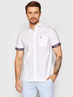 Tommy Jeans Koszula Tjm Tape Short Sleeve DM0DM10143 Biały Regular Fit