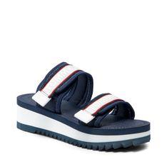 Klapki TOMMY JEANS - Color Pop Mule Sandal EN0EN01326 Twilight Navy C87