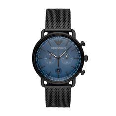 Zegarek EMPORIO ARMANI - Aviator AR11201  Black/Blue