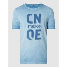 T-shirt męski Cinque w nadruki z krótkim rękawem