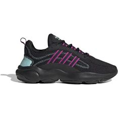 Sneakersy damskie Adidas z koronką z zamszu na platformie