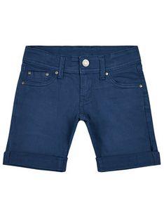 Pepe Jeans Szorty jeansowe Becket PB800604 Granatowy Slim Fit