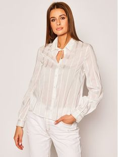 Patrizia Pepe Koszula Camicia/Shirt 2C1127/A3ZC-X2IN Biały Regular Fit