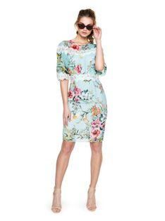 Sukienka w kwiaty z koronką L`AF ELIZA