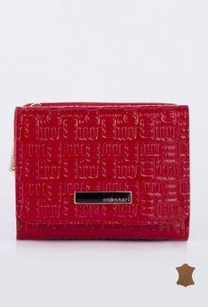 Mały portfel z tłoczonym logo