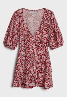 Bershka - Sukienka letnia - czerwony
