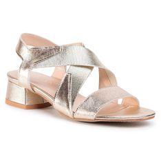 Sandały SAGAN - 4256 Złoty Lico