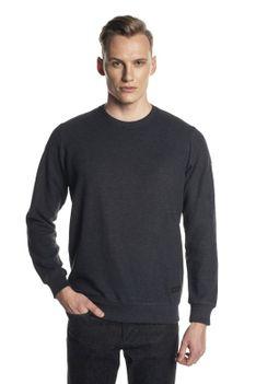 Gładki czarny sweter Recman BALSA PM