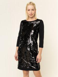 Marella Sport Sukienka koktajlowa 36261097 Czarny Regular Fit