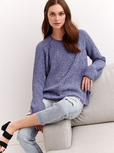 Szenilowy sweter damski