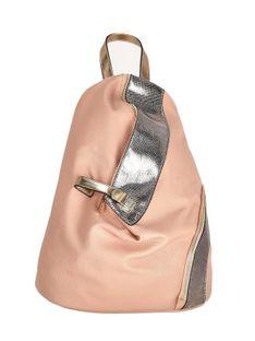 Różowy plecak z asymetrycznym zapięciem Verde