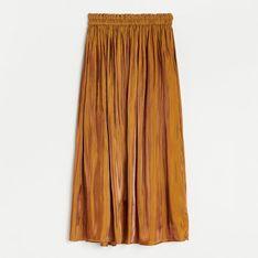 Reserved - Spódnica z błyszczącej tkaniny - Beżowy