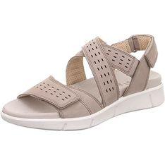 Legero sandały damskie z niskim obcasem bez wzorów casualowe ze skóry na koturnie