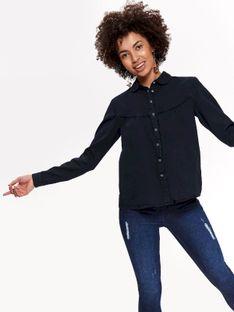 Koszula długi rękaw damska z haftem