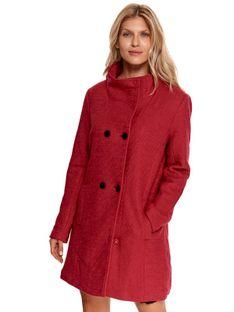 Dwurzędowy płaszcz ze stójką