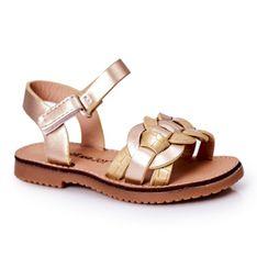 FR1 Dziecięce Sandały Z Wężowym Wzorem Złote Baxlee złoty