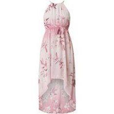 Sukienka koktajlowa w kwiatowe wzory z szyfonu