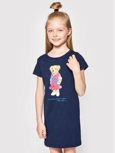 Polo Ralph Lauren Sukienka codzienna Bear 312837200001 Granatowy Regular Fit